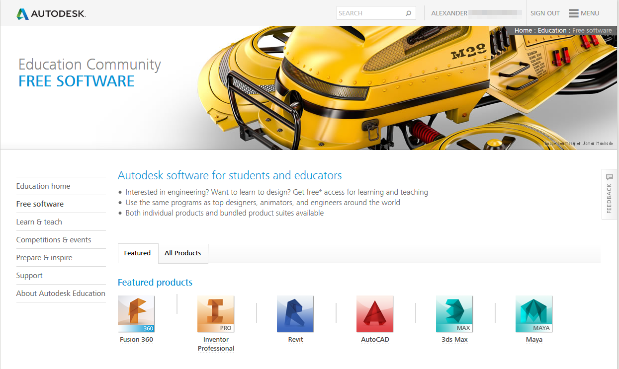 free student software downloads autodesk